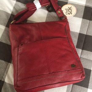 Brand new leather SAK crossbody
